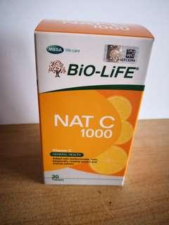 Bio life Nat C 1000 VitaminC (30 Tablets)