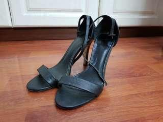 CMG Black Strap Stilettos 9