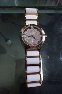 FOLLI FOLLIE陶瓷鑽石防水四葉草手錶