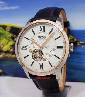 Brand New FOSSIL ME3104 Townsman Automatic Black Leather Watch