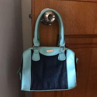 藍色牛仔布手袋 Blue handbag