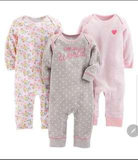 *3M* Brand New Carter's Jumpsuits For Baby Girl