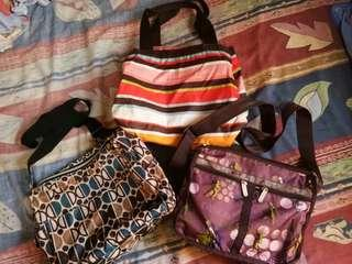 Reprice!Sale!Take All Authentic LeSportsac and Coppa sling bags