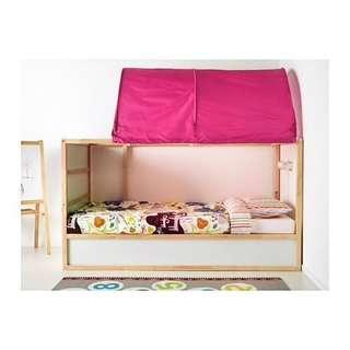 Ikea Kura Bed tent (Pink)