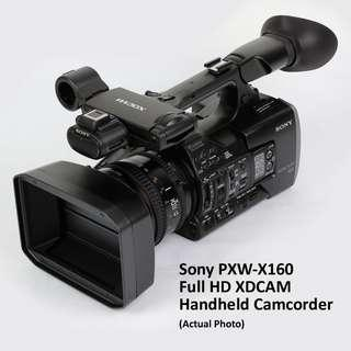 Sony PXW-X160 Camcorder + Manfrotto Case