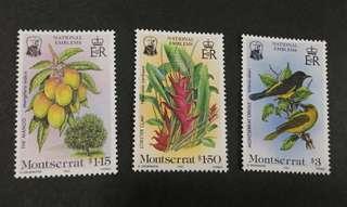 Montserrat 1985 Fauna & Flora - National Emblems complete stamp set