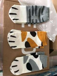 Cat paws ankle socks (last three pair)