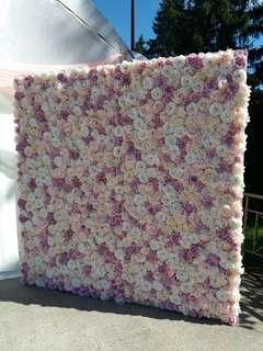 Full bloom floral backdrop rental
