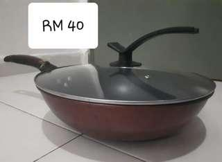Cooking Induction non stick frying pan with lid