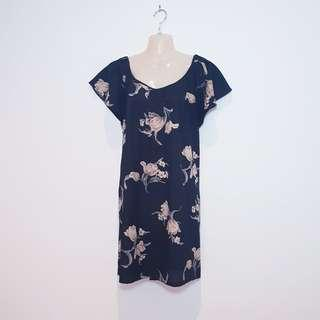 SADIE - Size 14 - Black Flowey Floral Dress