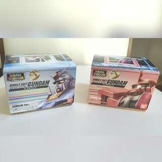Hako Vision Mobile Suit Gundam Ver. 高達 & Zaku II Ver. 渣古II 一套兩款 (全新)