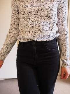 White spotty top