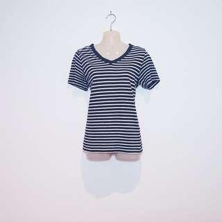 NOW - Size 14 - Black and White Stripe Tee Shirt