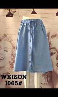 BUTTONED SKiRT P3600 Freesize/Fits up to Large Frame Garterized Actual Photos Code : lqh