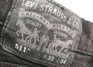 Levis 511 Black Original