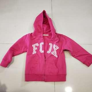 Baby fox Jacket in pink 18mth