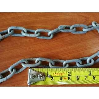Rantai Besi Steel Chain 12ft * 8-10 AL