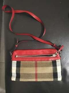Burberry cross body bag, shoulder bag, sling bag