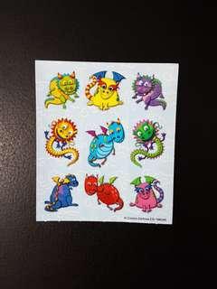 [INSTOCK] BN Small Dragons Stickers (Carson Dellosa)