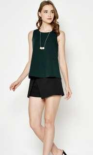 Love and Bravery Ethan Flare Top in Emerald