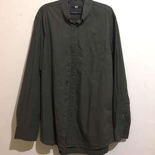 Uniqlo Dark Green Long Sleeves