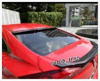 Honda Civic Gen 10 Carbon Fiber Boot Spoiler + Roof Spoiler