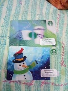 Clearing unsealed and zero valued Starbucks cards!