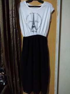 *FREE DELIVERY* Black & White Dress