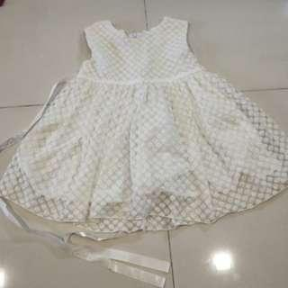 Baby Girl white Dress S size