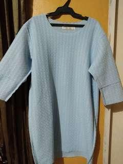*FREE DELIVERY* Sky Blue Oversized Dress