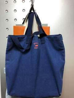 Beams boy 洗水tote bag
