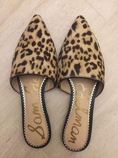 Sam Edelman leopard mules 豹紋平底尖頭鞋