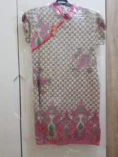 Pink batik dress