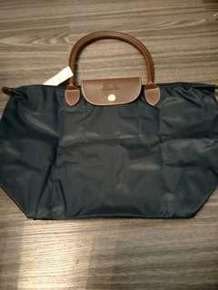 BN Fashionable Navy Blue Foldable Tote Bag