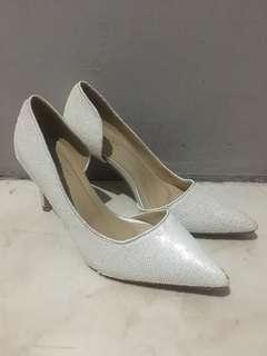 Velvet high heels