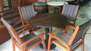 Solid wood (outdoor)table set