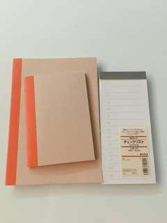 Muji notebook notepad set