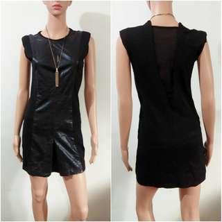 (XS-S) Korean black bodycon dress
