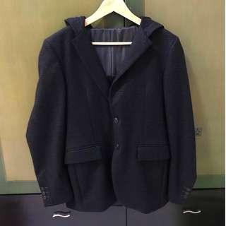 Zara man blazer with hoodie size SMALL