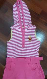 Disney Hoodie Pooh Pink Dress