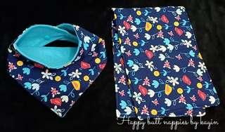 Bandana bibs with burp pads