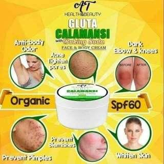 GLUTA CALAMANSI WITH BAKING SODA WHITENING CREAM