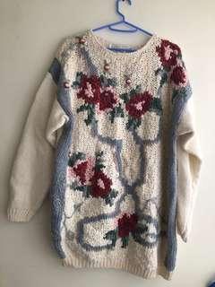 韓國冷衫 sweater top 冷 線衫 上衣 monki topshop tee blouse h m forever21 lily snidel collect japan 韓 日 毛衣 花 文青