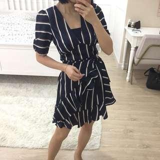 Mango vintage Stripe working Dress