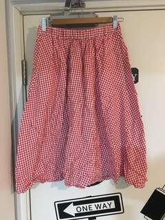 b+ab 格仔裙