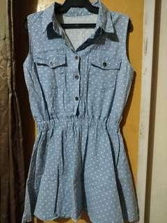 *FREE DELIVERY* Jean with Heart Prints Dress