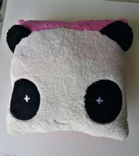 Soft Panda Pink Cushion Pillow Stuff Plush