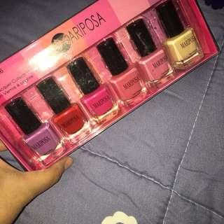 Mariposa 6 color Nail Polish Set