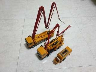 Fast deal at 200sgd Putzmeister Pump truck stationary pump Concrete truck pump 1:50 diecast scale model