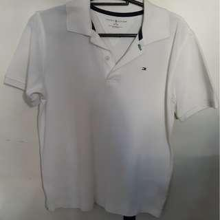 Tommy Hilfiger white polo - M